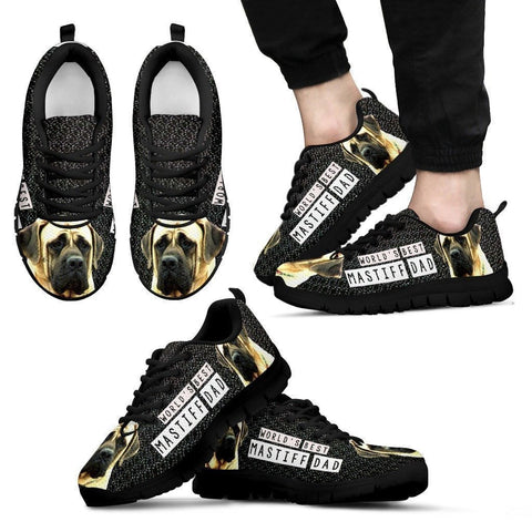 'World's Best Mastiff Dad' Running Shoes For Men-Father's Day Special-Paww-Printz-Merchandise