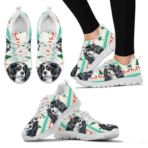 Cavalier King Charles Spaniel Christmas Print Running Shoes For Women-Free Shipping-Paww-Printz-Merchandise