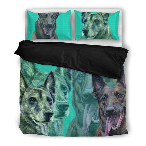 Belgian Malinois (Malinois Dog) Print Bedding Set- Free Shipping