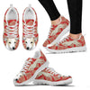 Whippet Christmas Print Running Shoes For Women-Free Shipping-Paww-Printz-Merchandise