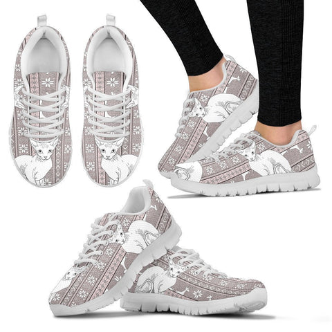 Sphynx Cat Christmas Print Running Shoes For Women-Free Shipping-Paww-Printz-Merchandise
