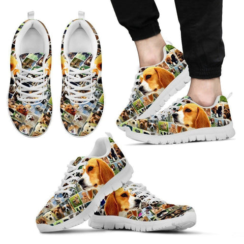 Lovely Beagle Print-Running Shoes For Men-Express Shipping-Paww-Printz-Merchandise