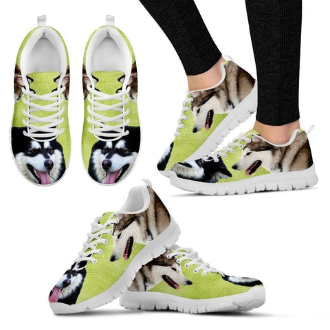 Alaskan Malamute Running Shoes For Women-Free Shipping-Paww-Printz-Merchandise