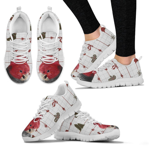 Gang Gang Cockatoo Parrot Print Christmas Running Shoes For Women-Free Shipping-Paww-Printz-Merchandise