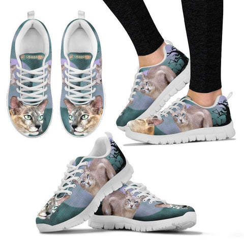 Tonkinese Cat (Halloween) Print-Running Shoes For Women/Kids-Free Shipping-Paww-Printz-Merchandise