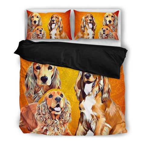 English Cocker Spaniel Bedding Set- Free Shipping