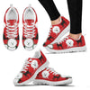 Bichon Frise Christmas Running Shoes For Women- Free Shipping-Paww-Printz-Merchandise