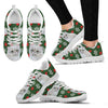 White Persian Cat Christmas Print Running Shoes For Women-Free Shipping-Paww-Printz-Merchandise