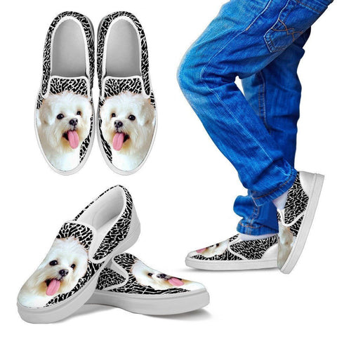 Maltese Print-Slip Ons For Kids-Express Shipping-Paww-Printz-Merchandise