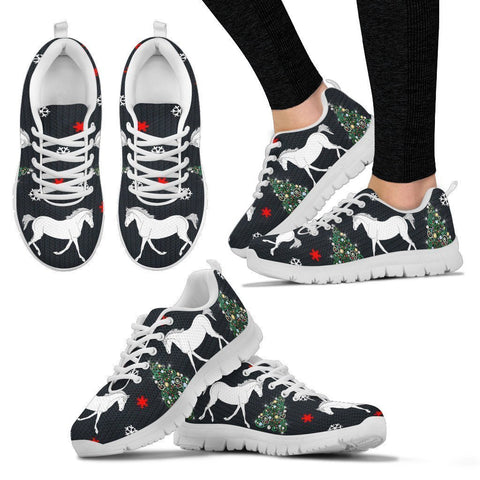 Missouri Fox Trotter Horse Print Christmas Running Shoes For Women-Free Shipping-Paww-Printz-Merchandise