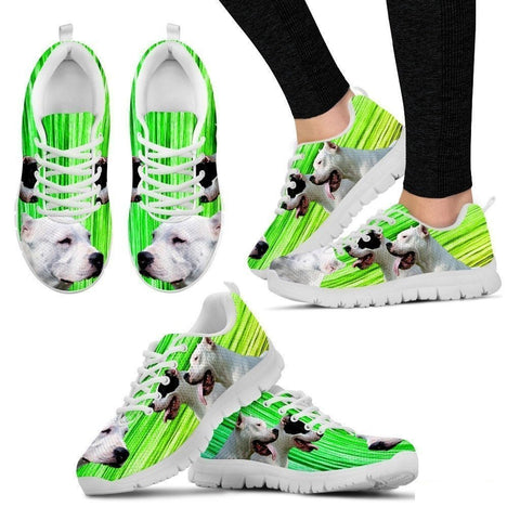 Dogo Argentino Print (Black/White) Running Shoes For Women-Free Shipping-Paww-Printz-Merchandise