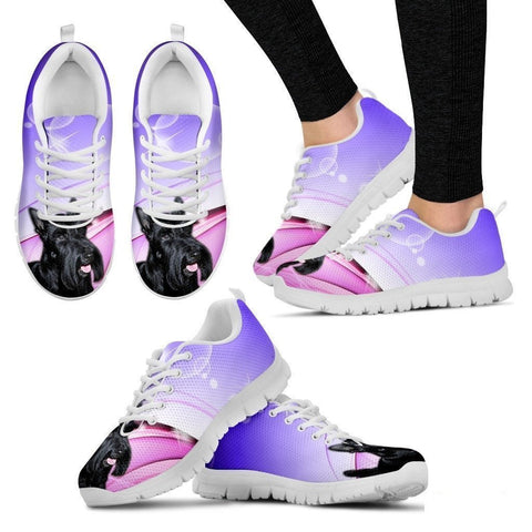 Scottish Terrier Dog Running Shoes For Women-Free Shipping-Paww-Printz-Merchandise