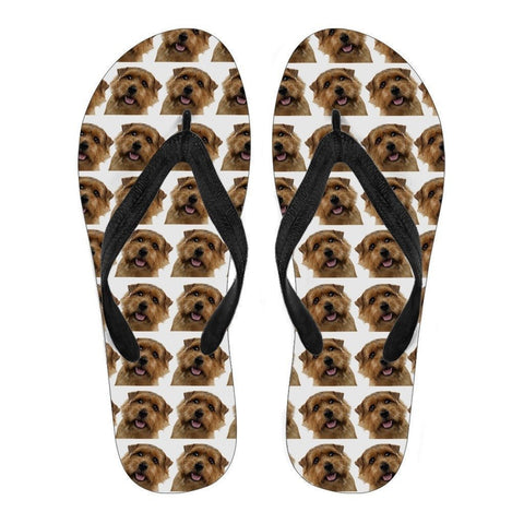 Norfolk Terrier Flip Flops For Men-Free Shipping-Paww-Printz-Merchandise