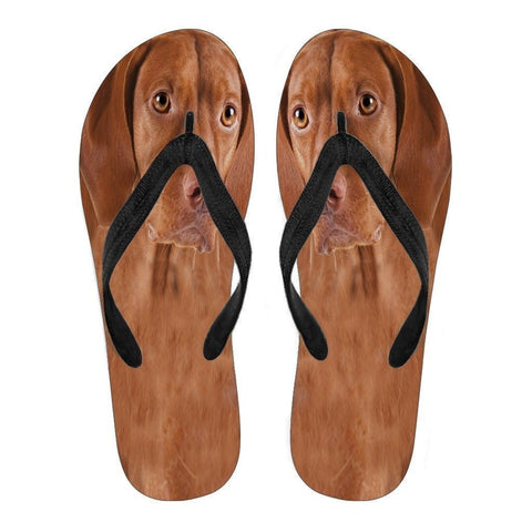 Vizsla Flip Flops For Men-Free Shipping-Paww-Printz-Merchandise
