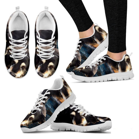 Sherry Amaral Barry /Dog Print Running Shoe For Women- Free Shipping-Paww-Printz-Merchandise