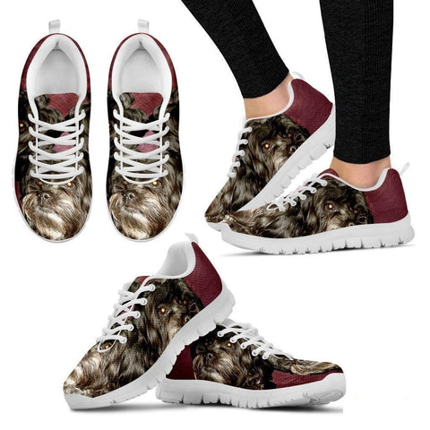 Elizabeth M Priest Cute Dog Print Running Shoe For Women- Free Shipping-Paww-Printz-Merchandise
