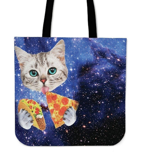 Hungry Cat-Tote Bag-Free Shipping-Paww-Printz-Merchandise