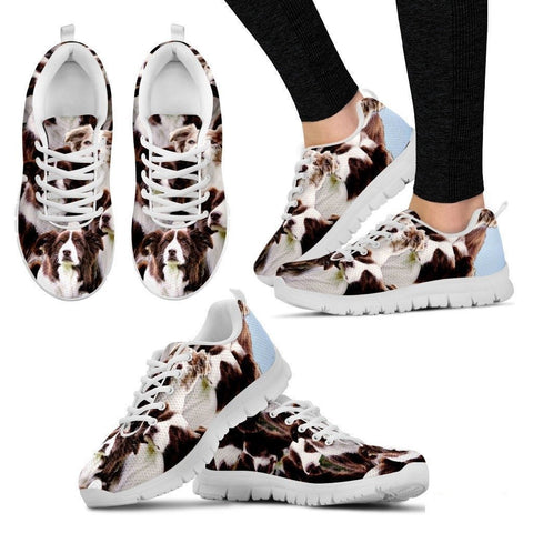 English Shepherd In Lots Print Running Shoe For Women- Free Shipping-Paww-Printz-Merchandise