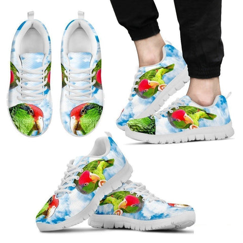 Amazon Red Headed Parrot Print Running Shoes For Men-Free Shipping Limited Edition-Paww-Printz-Merchandise