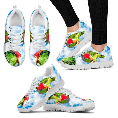 Amazon Red Headed Parrot Print Running Shoes For Women-Free Shipping-Paww-Printz-Merchandise