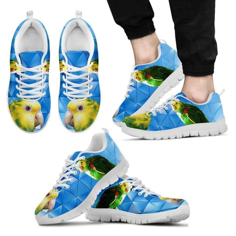 Amazon Yellow Headed Parrot Running Shoes For Men-Free Shipping Limited Edition-Paww-Printz-Merchandise