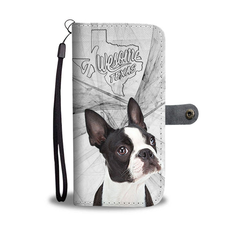 Amazing Boston Terrier Print Wallet Case-Free Shipping-TX State