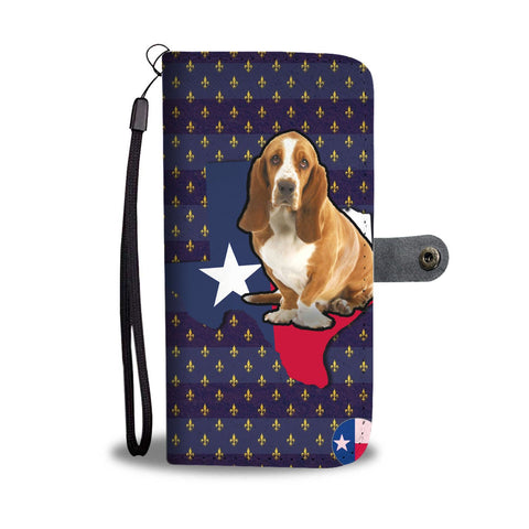 Cute Basset Hound Dog Print Wallet Case-Free Shipping-TX State