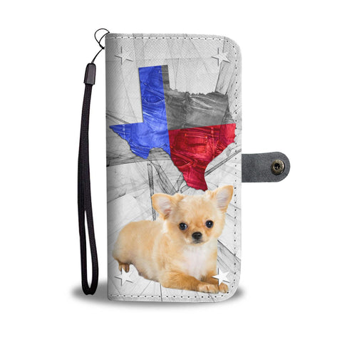 Cute Chihuahua Print Wallet Case- Free Shipping-TX State