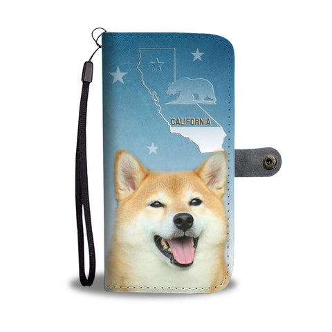 Shiba Inu Print Wallet Case-Free Shipping-CA State