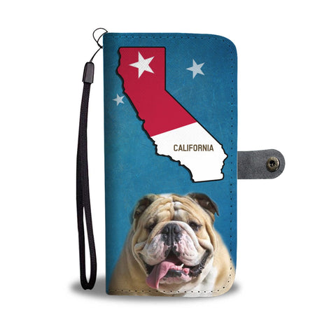 Bulldog Print Wallet Case-Free Shipping-CA State