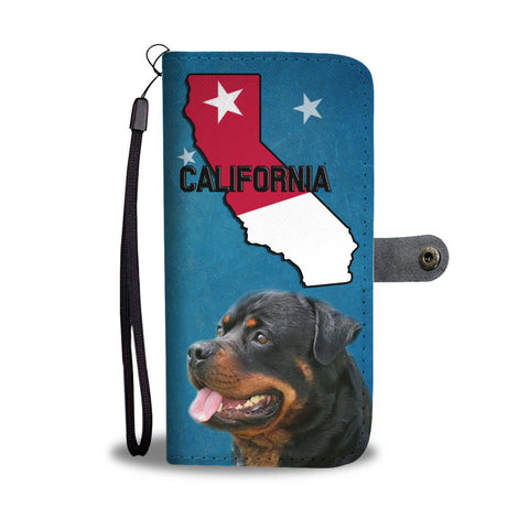 Rottweiler Print Wallet Case-Free Shipping-CA State