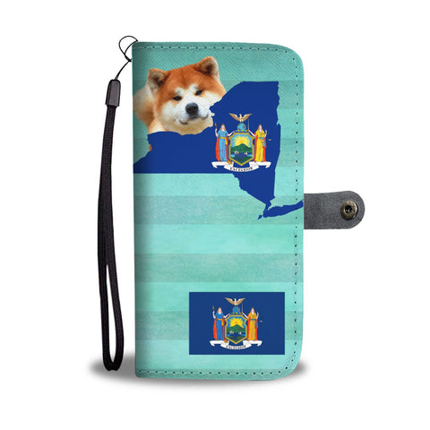 Cute Akita Dog Print Wallet Case-Free Shipping-NY State