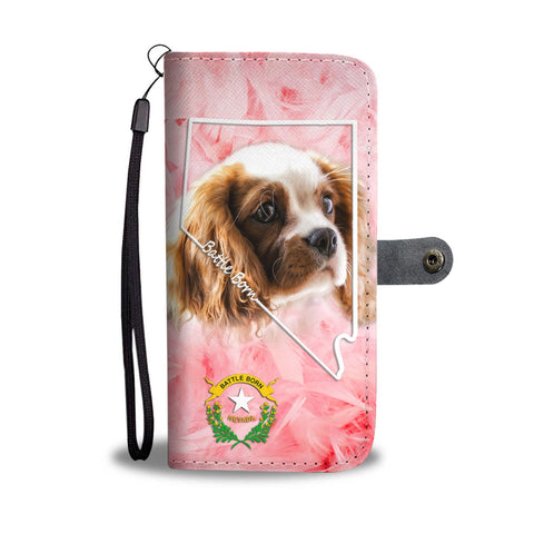 Cavalier King Charles Spaniel Print Wallet Case-Free Shipping-NV State