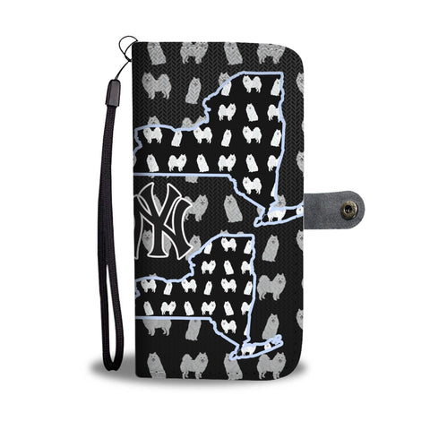 American Eskimo Dog Pattern Print Wallet Case-Free Shipping-NY State