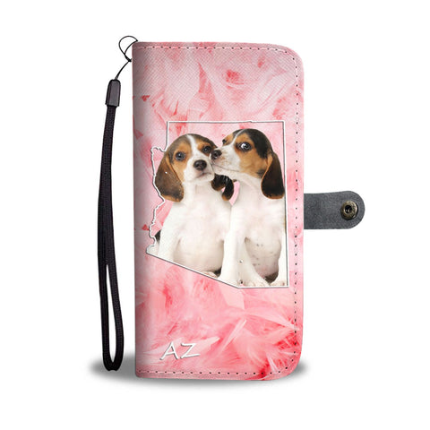 Cute Beagle Print Wallet Case- Free Shipping-AZ State