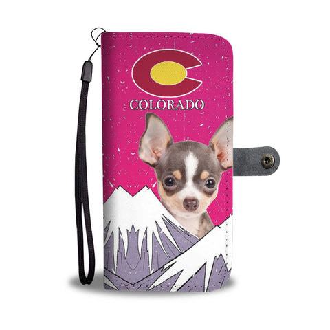 Chihuahua Dog Print Wallet Case-Free Shipping-CO State