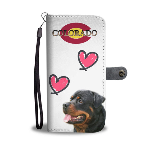 Rottweiler Print Wallet Case-Free Shipping-CO State