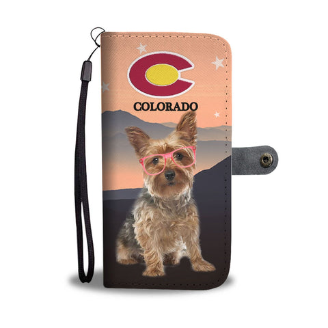 Yorkshire Terrier (Yorkie) Print Wallet Case-Free Shipping-CO State