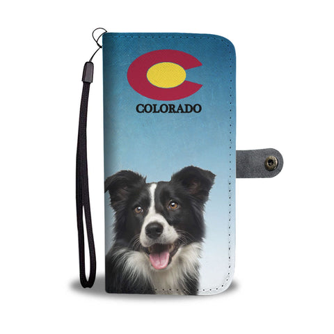 Border Collie Print Wallet Case-Free Shipping-CO State