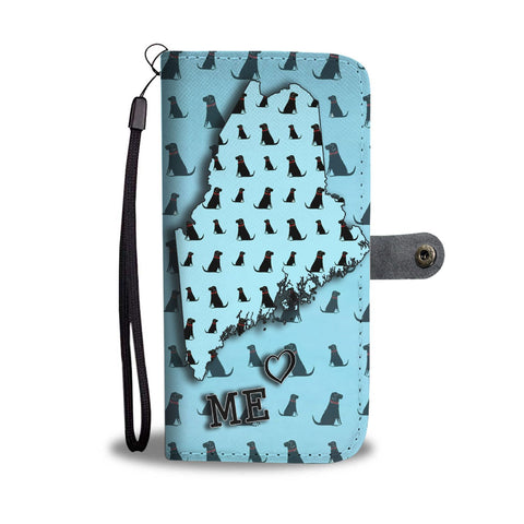 Labrador Retriever Dog Pattern Print Wallet Case-Free Shipping-ME State