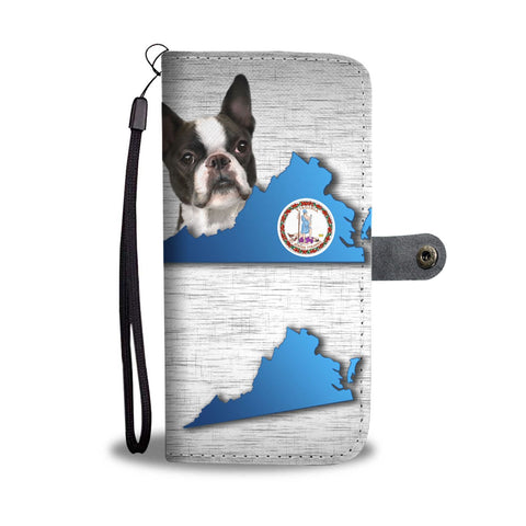Boston Terrier Dog Print Wallet Case-Free Shipping-VA State