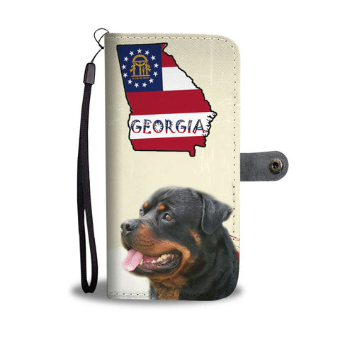 Rottweiler Print Wallet Case-Free Shipping-GA State