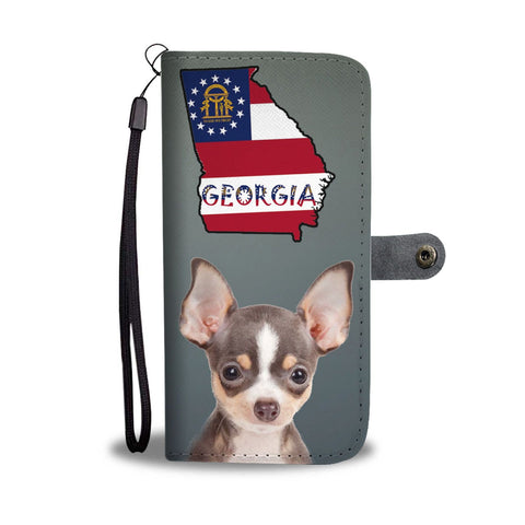 Chihuahua Print Wallet Case-Free Shipping-GA State