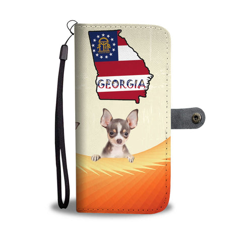 Cute Chihuahua Print Wallet Case-Free Shipping-GA State