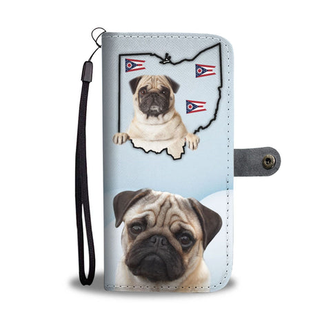 Pug Print Wallet Case-Free Shipping-OH State