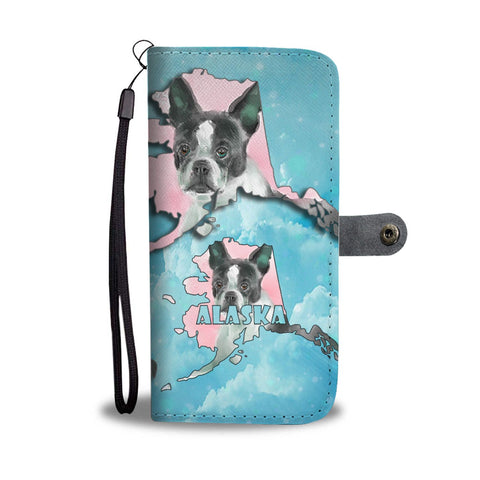 Boston Terrier Dog Art Print Wallet Case-Free Shipping-AK State