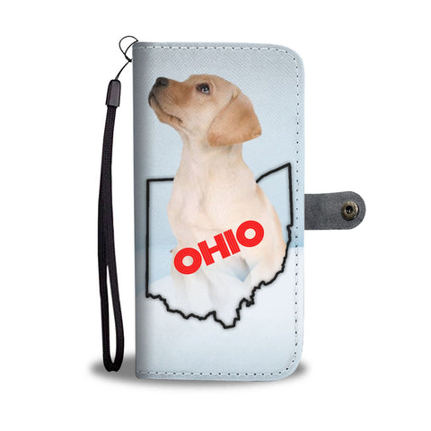 Labrador Retriever Print Wallet Case-Free Shipping-OH State