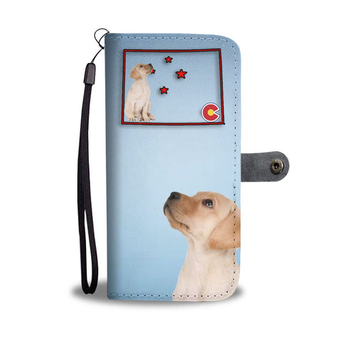Labrador Retriever Print Wallet Case-Free Shipping-CO State