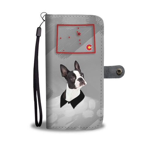 Amazing Boston Terrier Print Wallet Case-Free Shipping-CO State