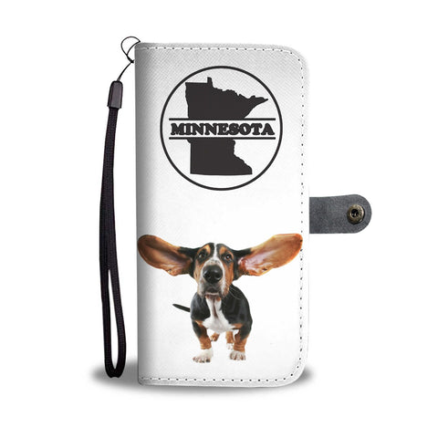 Basset Hound Print Wallet Case-Free Shipping-MN State